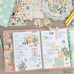 Springtime planner decorations
