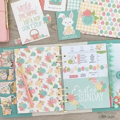Easter planner spread