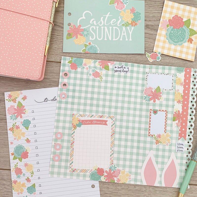 Easter planner spread