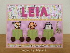 Baby girl card!