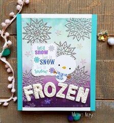 """Frozen"" birthday card!!"