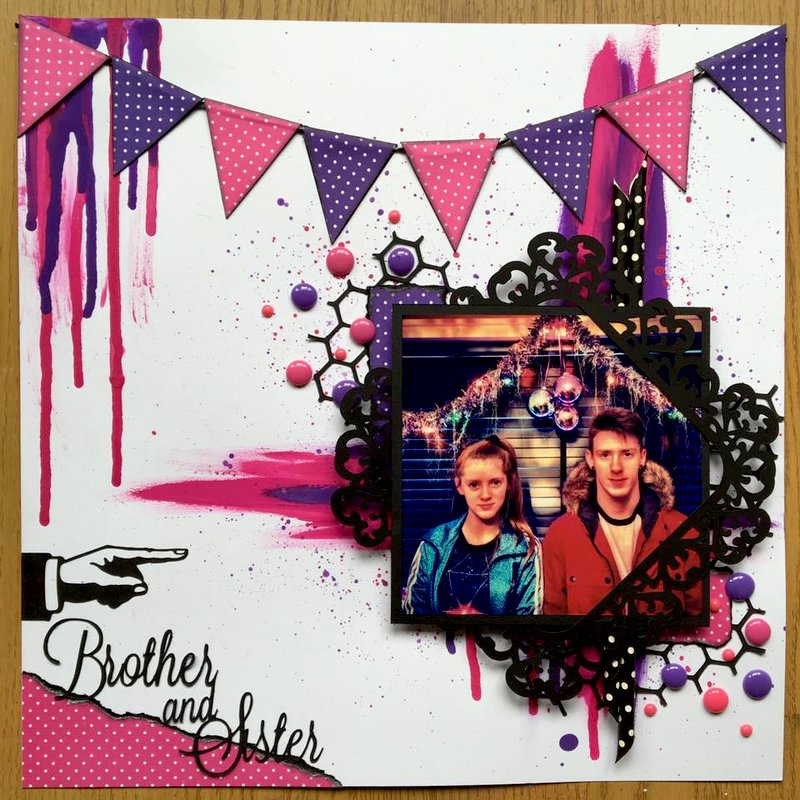 pink and purple layout