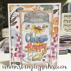 Choose Happy Watercolor Card