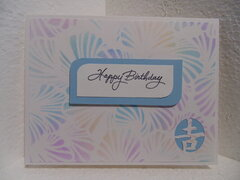 Card made with my new stencil called Lush Petals