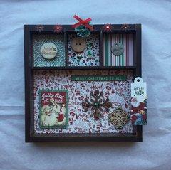 Retro Christmas-themed Decor Piece