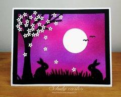 silhouette bunnies
