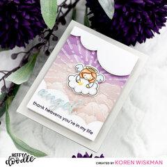 Heffy Doodle Angel Card