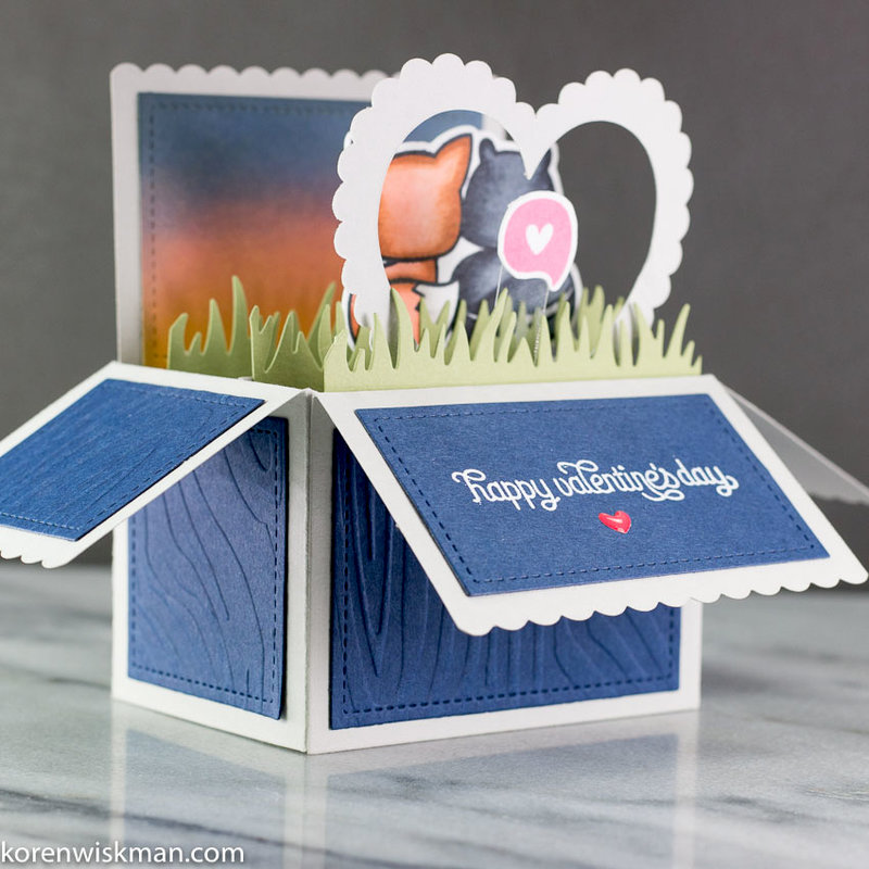 A Lawn Fawn Scalloped Box Card Valentine