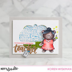 Heffy Doodle Awesome Teacher Shaker Card Video