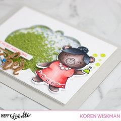 Heffy Doodle Awesome Teacher Shaker Card Video