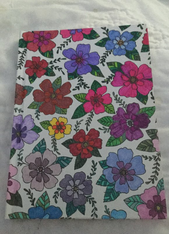 Adult Coloring Elastic Floral Notebook 5x7
