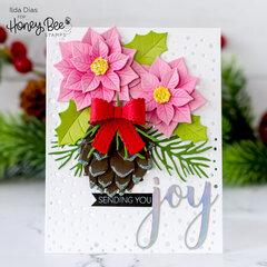 Winter Christmas Joy Bouquet Card