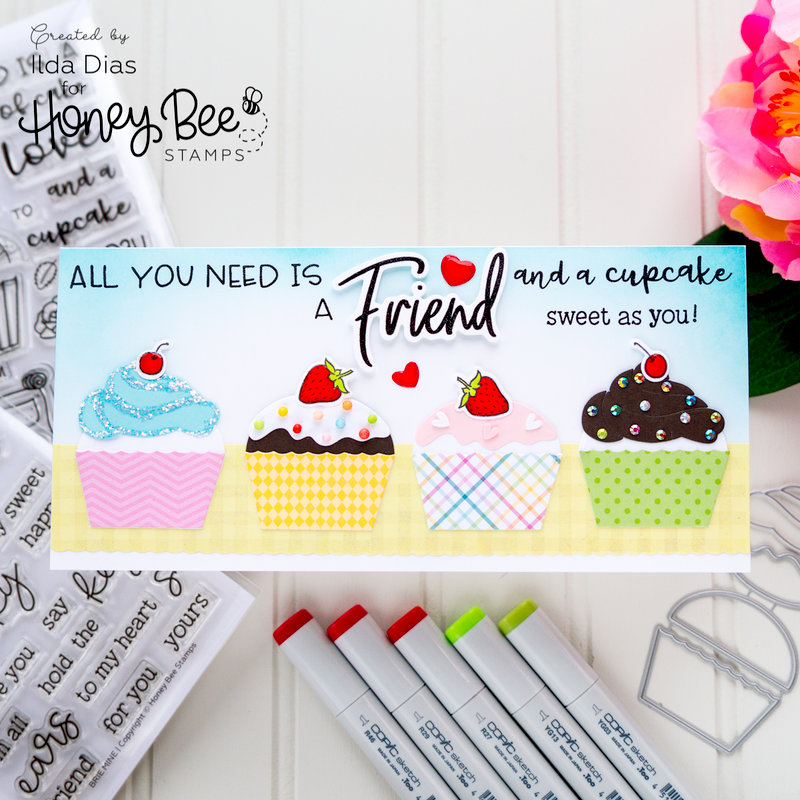 Cupcakes and Friends - Honey Bee Stamps