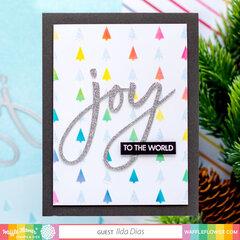 Joy to the World Rainbow Card