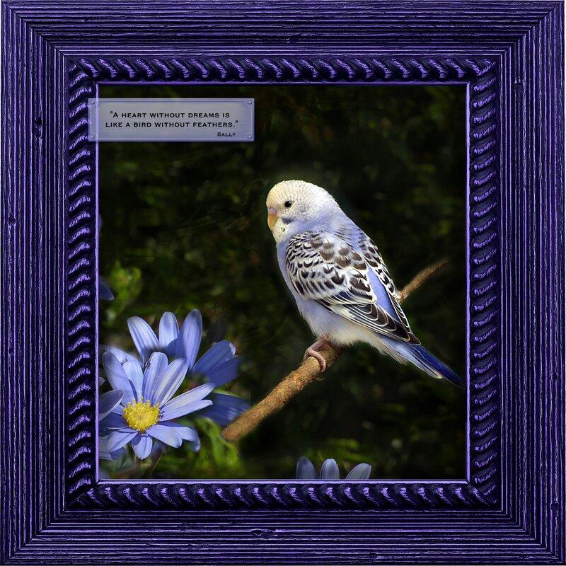 Spring Bird Lavender Daisies
