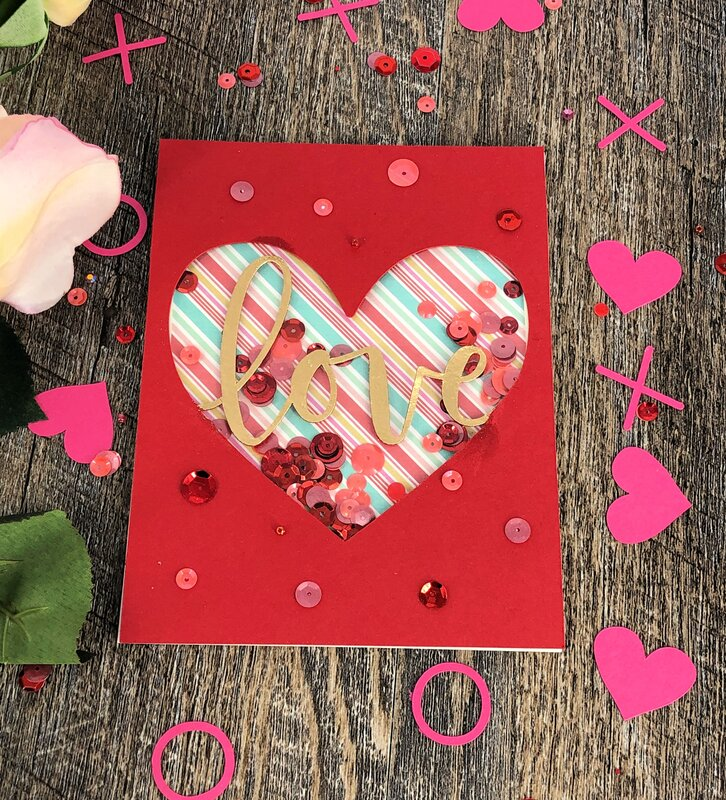 Heart window shaker card