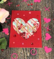 Heart window shaker card