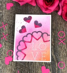 Heart semi-circle card