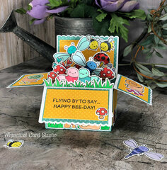 Bug garden party pop up box card