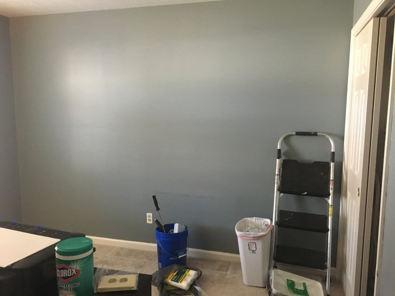 Originally a gray and red bedroom