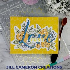 Honeycomb Stencil Card