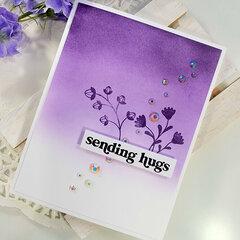 Simple Purple Ink Blended Kindness Card