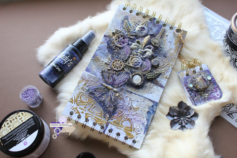 Mixed Media both sides bound notebook