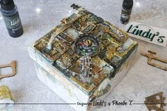 Mixed Media Heavy Metal Steampunk box by Phoebe Tonosaki