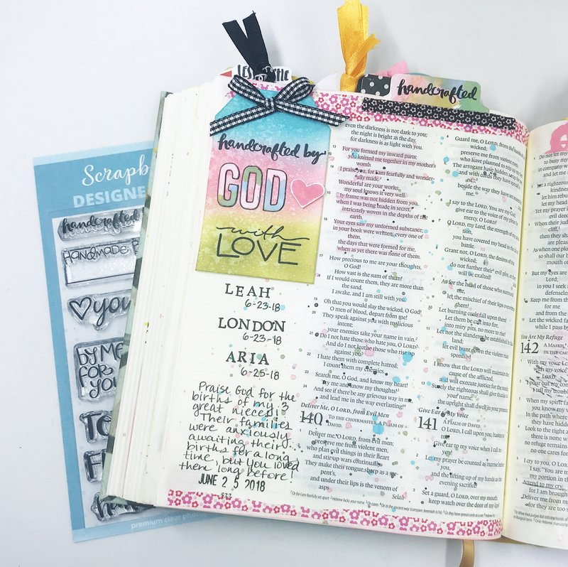 """Handcrafted by God"" Bible Journaling Page"