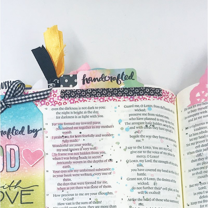 """""""Handcrafted by God"""" Bible Journaling Page"""