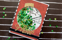 Be Merry Christmas Shaker Card