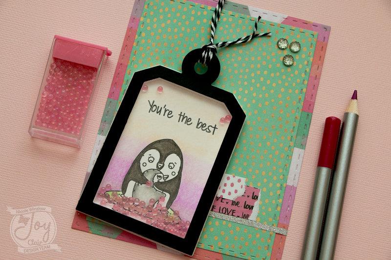 Penguin Love Shaker Tag Card