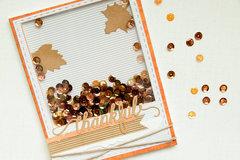 Fall Inspired Shaker Card