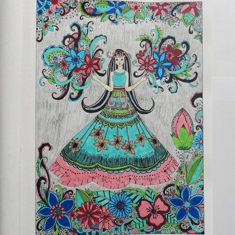 Coloring Page (Belles & Blossoms)