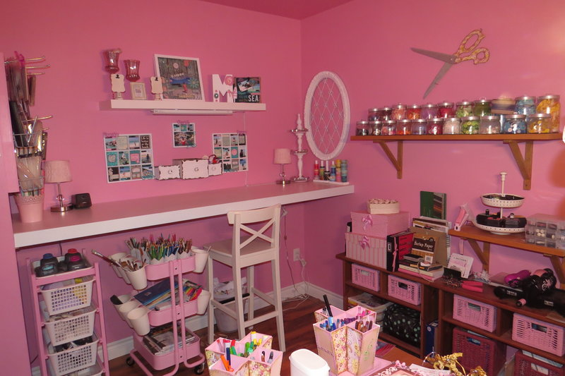 My Pink Scraproom Studio
