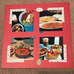 Scrapbook Layout for Food