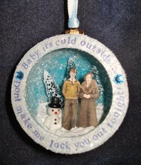 snarky Christmas ornament shrine