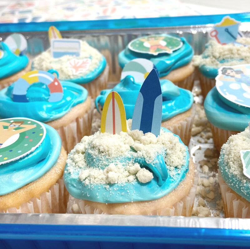 Dive Into Summer Beach Cupcakes