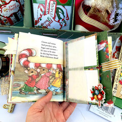 Christmas 2020 Little Golden Altered Book - Carta Bella Dear Santa