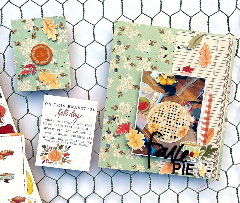 Fave Pie Pocket Page Spread