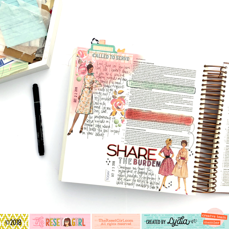 The Reset Girl Bible Journaling Page