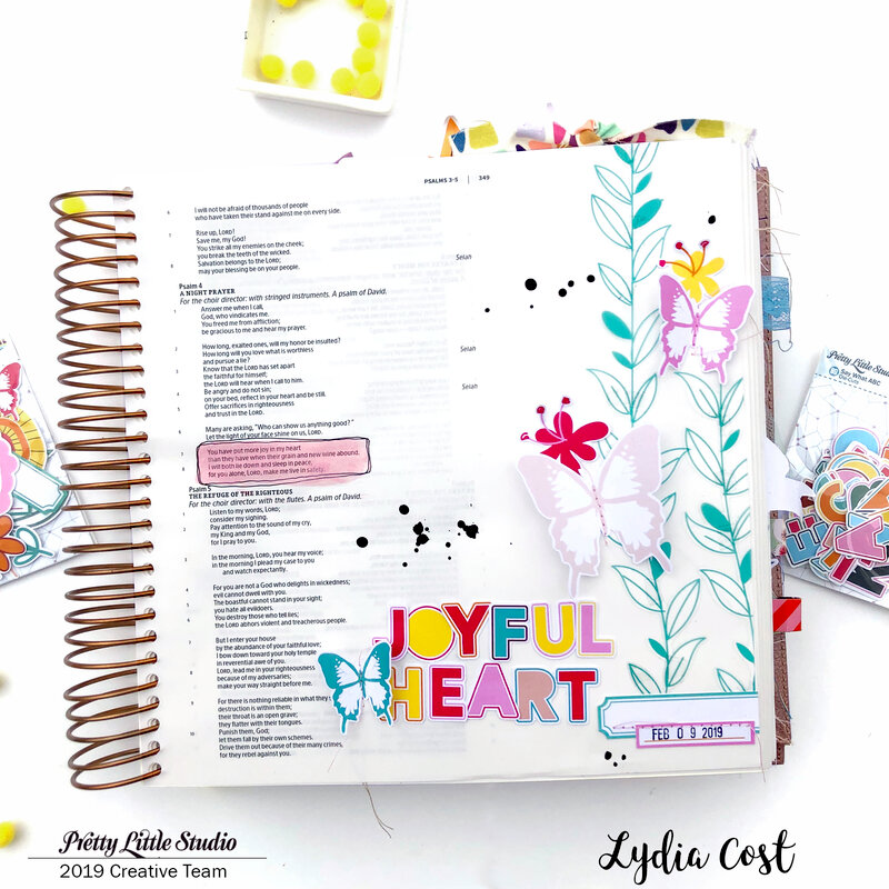 Joyful Heart Bible Journaling Page