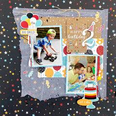 Magical Birthday Boy 12x12 Layout