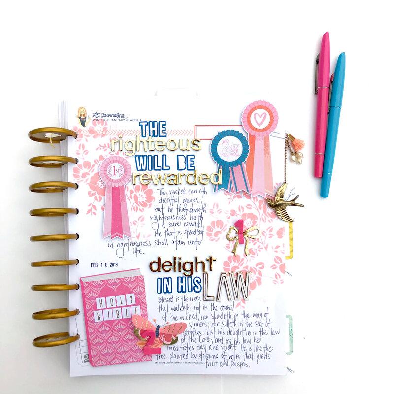 Scripture Art Journaling Page