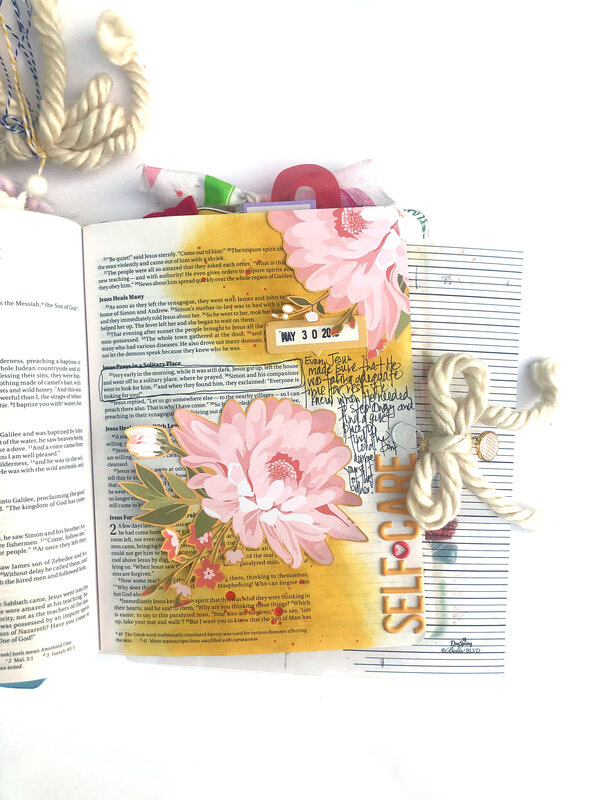 Self-Care Bible Journaling Page