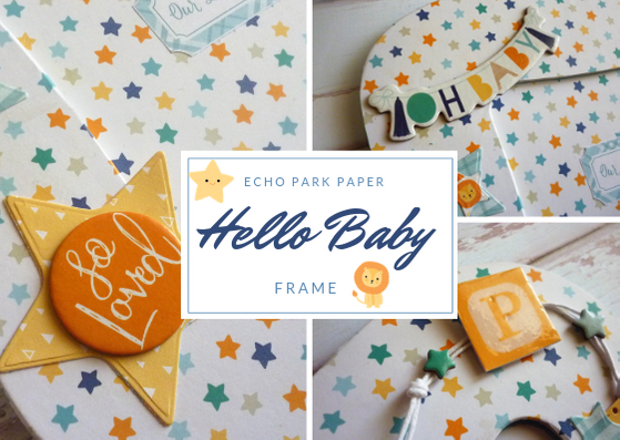 Hello Baby Boy Frame and Notecard