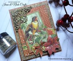 Graphic45 Winter Wonderland Christmas Card
