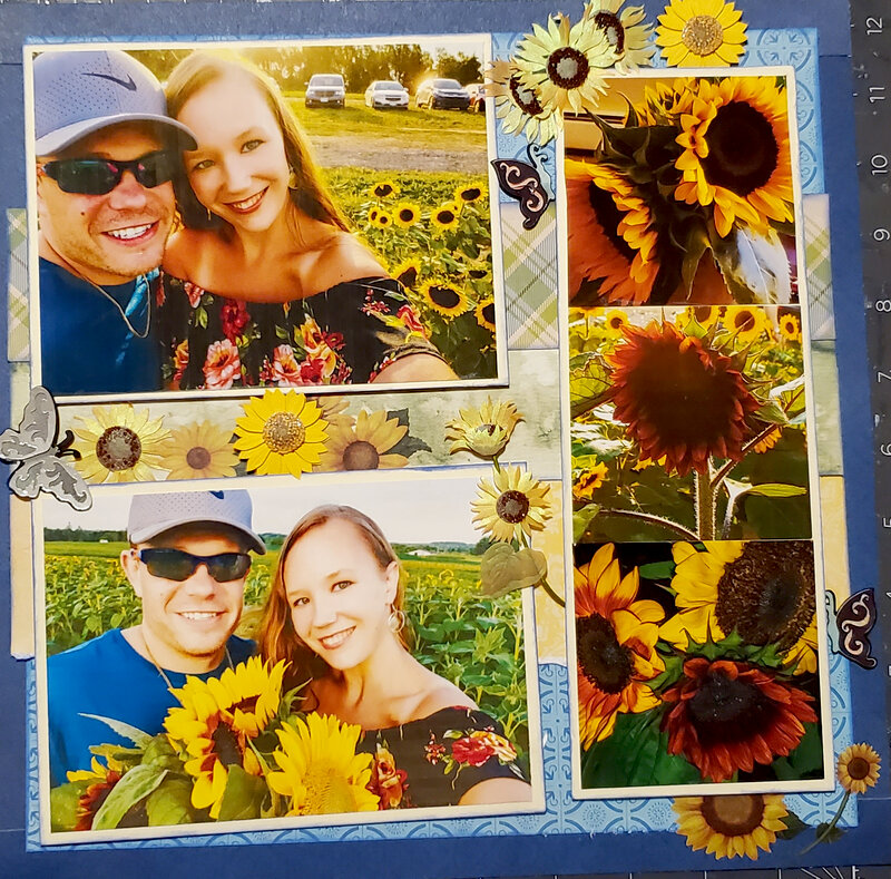 Sunflower layout left side