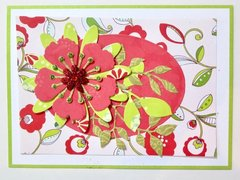 Not Christmas Flower Card