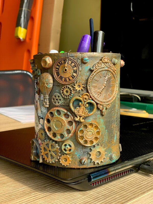 PENCIL HOLDER STEAMPUNK